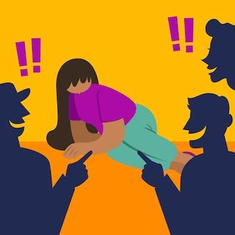 Rassismuskonzept illustriert