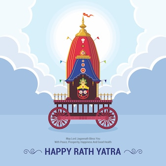 Ratha yatra festivalfeier für lord jagannath, balabhadra und subhadra. lord jagannath puri odisha gott rathyatra festival.