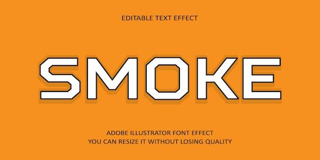 Rauch editierbarer text schrift effekt