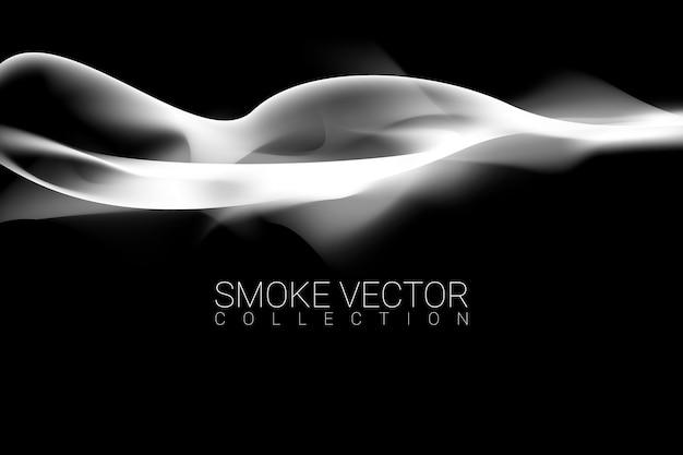 Rauchen sie auf schwarzem hintergrund