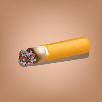Rauchen von zigaretten mit zippo Premium Vektoren