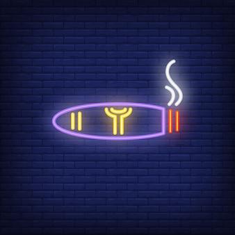 Rauchende zigarre-neonzeichen