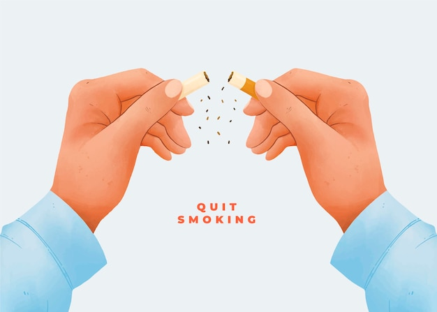 Raucherentwöhnungskonzept mit gebrochener zigarette