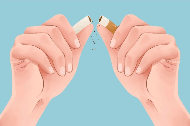 Raucherentwöhnungskonzept mit zigarettenbruch