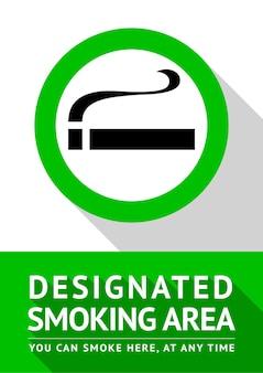 Raucherplatz neues poster, illustration für den druck