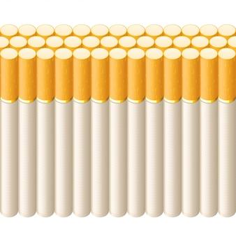 Raucherreihe von zigaretten