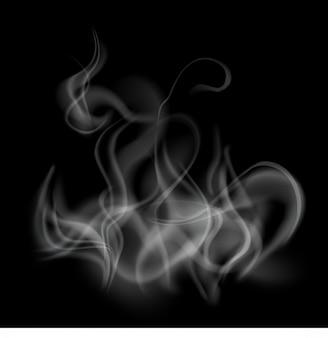 Rauchschablonenhintergrund lokalisiert und transparent