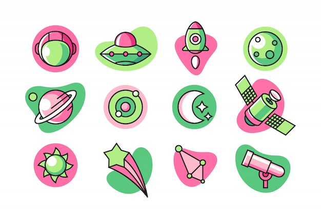 Raum-icon-set