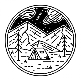 Raum landschaft tatto monoline design
