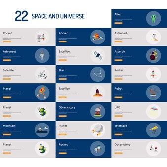 Raum und universum banner design