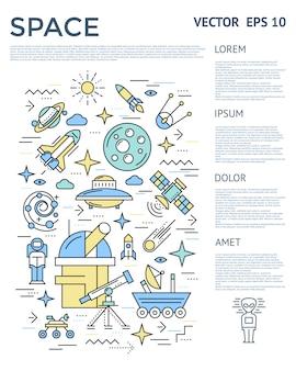 Raum vertikale infografik