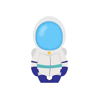Raumfahrer, der auf stuhl sitzt. astronaut, kapitän, fiktion.