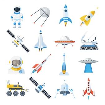 Raumfahrzeug gesetzt