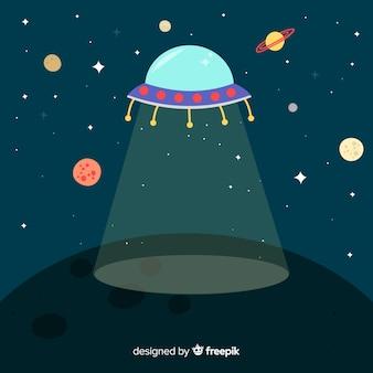Raumfahrzeug hintergrund