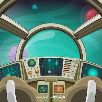 Raumfahrzeug systemsteuerung hintergrund
