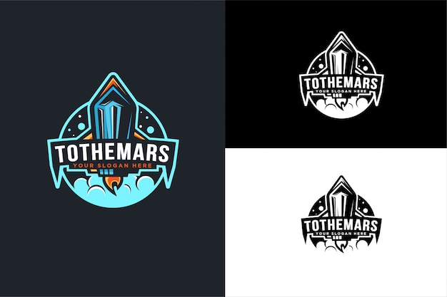 Raumflugzeug, rakete logo vorlage