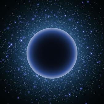 Raumglühlichthintergrund