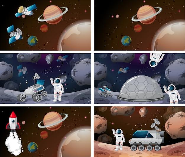 Raumhintergrundszene oder hintergrundsatz