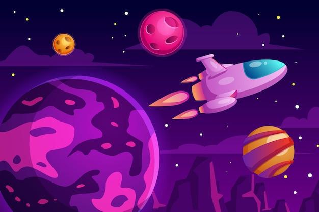 Raumillustration mit science fiction