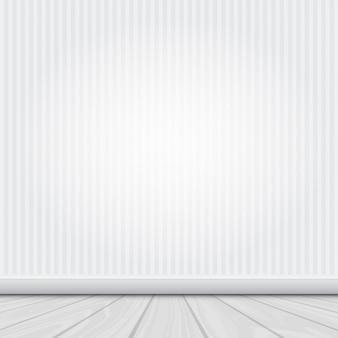 Rauminnenraum mit weißer wand und holzboden