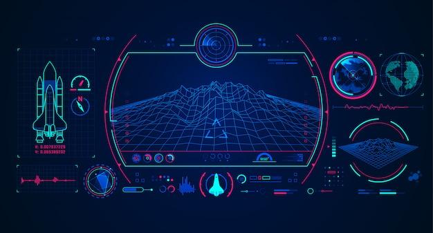 Raumschiff-radar-schnittstelle