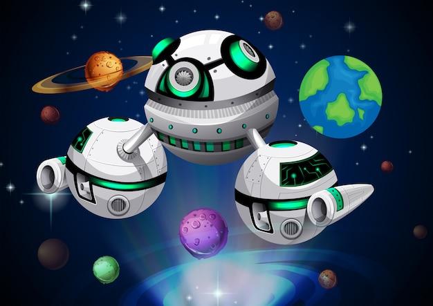 Raumschiff reisen durch den weltraum