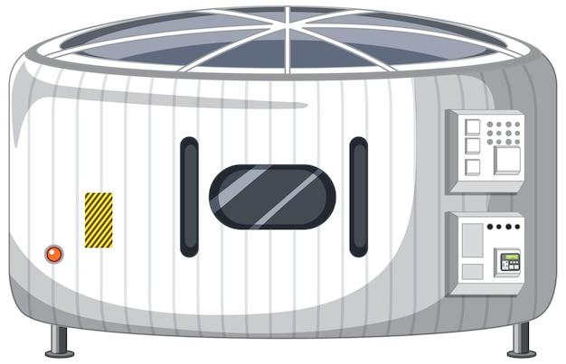 Raumstation auf weißem hintergrund