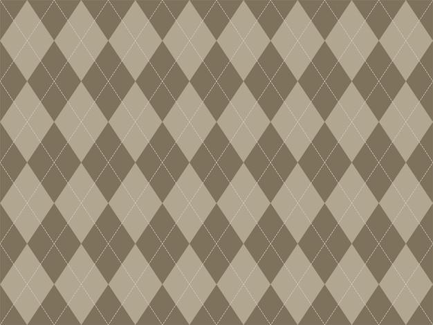Rautenmuster nahtlos. stoff textur hintergrund. klassisches argill-vektorornament. Premium Vektoren
