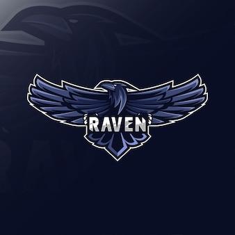 Raven maskottchen logo esport design