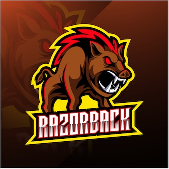 Razorback sport maskottchen logo