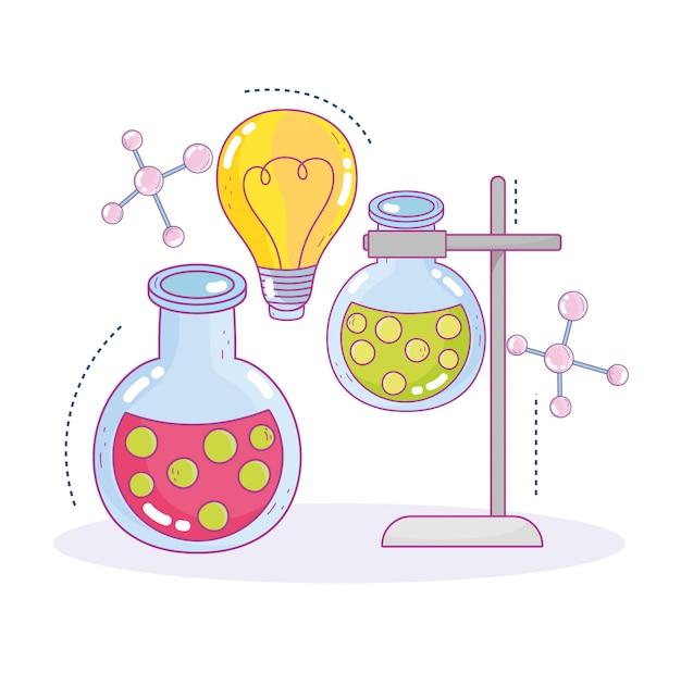 Reagenzgläser für wissenschaftliche praxisproben forschungslabor für innovation
