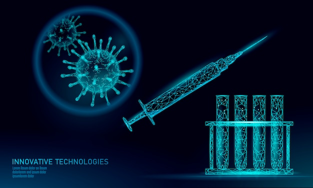Reagenzglas-virenspritze. laboranalyse behandlung von medizinischen krankheitsinfektionen.