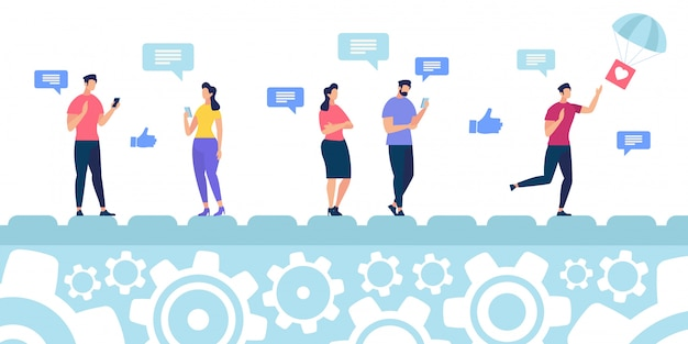 Reaktion auf inhalte in sozialen medien