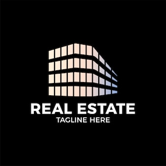 Real estate construction logo-design-vektor-vorlage.