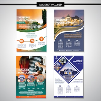 Real estate flyer schablonendesign