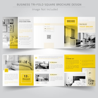 Real estate square trifold-broschüre