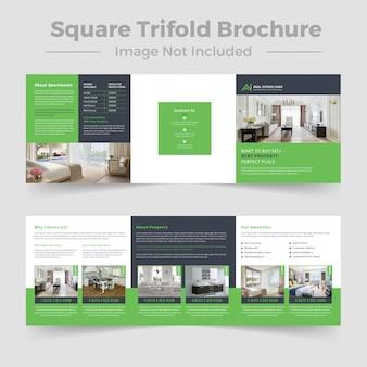 Real estate square trifold-broschüre
