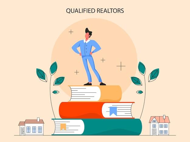 Realer vorteil. qualifizierter immobilienmakler oder makler. maklerunterstützung und hilfe bei hypothekenverträgen.