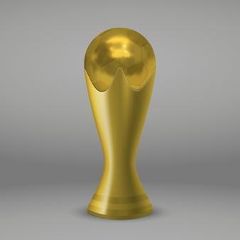 Realictic fußball-goldschale lokalisiert