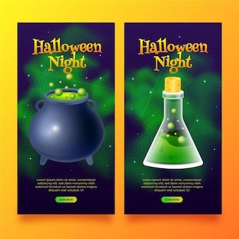 Realistisch gemachte halloween-banner