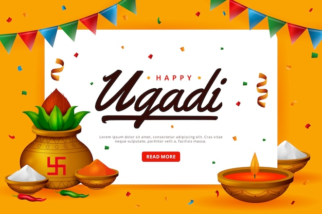 Realistisch glücklich ugadi