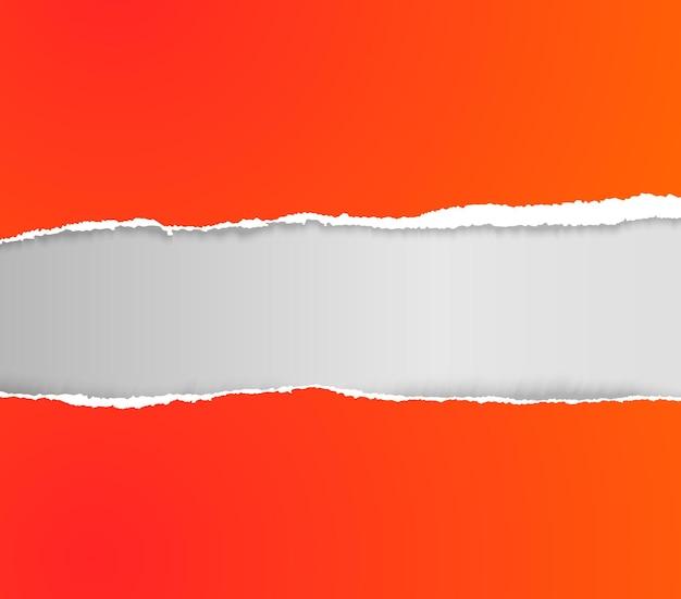 Realistisch zerrissenes, zerrissenes papier. papierkante abschneiden