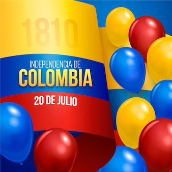 Realistische 20 de julio - independencia de kolumbien illustration