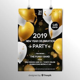 Realistische 2019 Flyer Vorlage