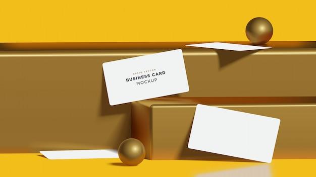 Realistische 3d gold rendern visitenkarte