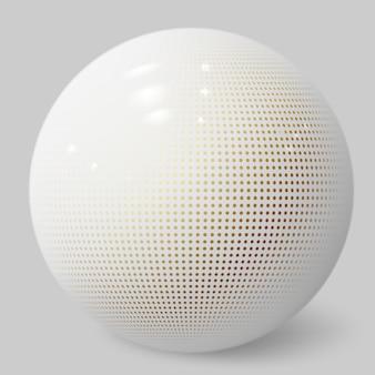 Realistische 3d-kugel. weiße blase. strukturierte kugel.