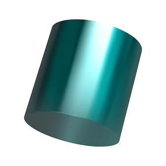 Realistische 3d-rendering-metallic-farbverlauf-geometrische formenobjektelemente für design lokalisiert auf weißem hintergrund. vektorillustration. eps10