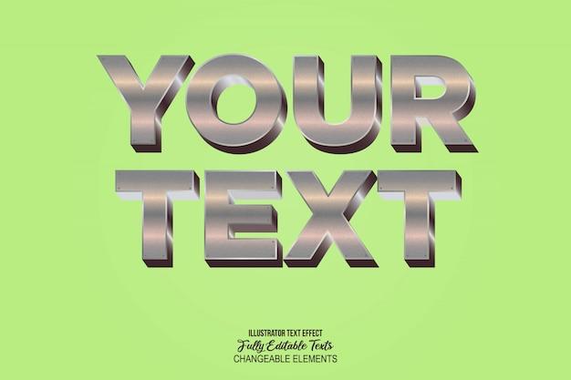 Realistische 3d-text-effekt-stil