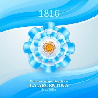 Realistische 9 de julio - erklärung der unabhängigkeit der argentinischen illustration