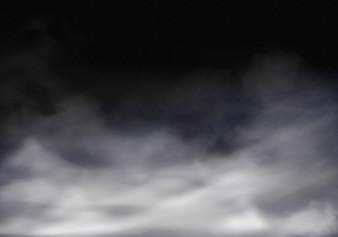 Realistische Abbildung 3d des Nebels, des grauen Nebels oder des Zigarettenrauches.
